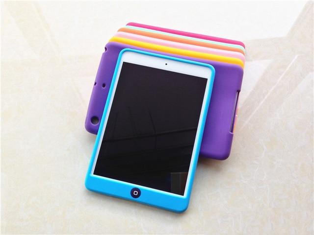 Colorful Soft Jelly Silicone Rubber TPU Case For iPad Mini Gel Case Skin Shell For iPad Mini 2 3 Back Cover For iPad Mini 1 2 3