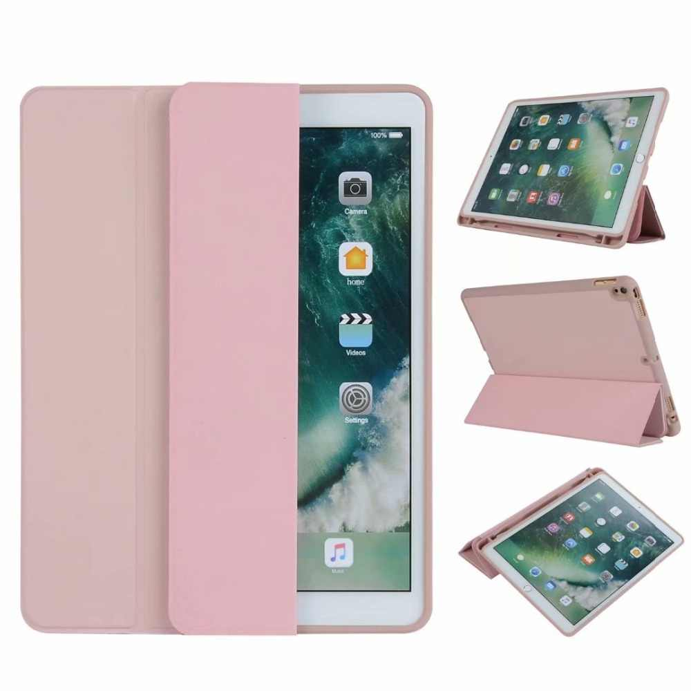 For iPad Air 10.5 inch 2019 Silicon TPU Case Leather Flip Folio Case Cover With Pencil Holder For Apple iPad Pro 10.5 tablet