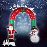 М 2,4 М надувная АРКА с Санта-Клаусом и снеговиком надувные машинки для рук Отец Рождество и снеговик милые рождественские украшения