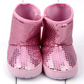 Sequin Baby Girl High Boots Soft Sole Anti Slip Warm Toddler Boots