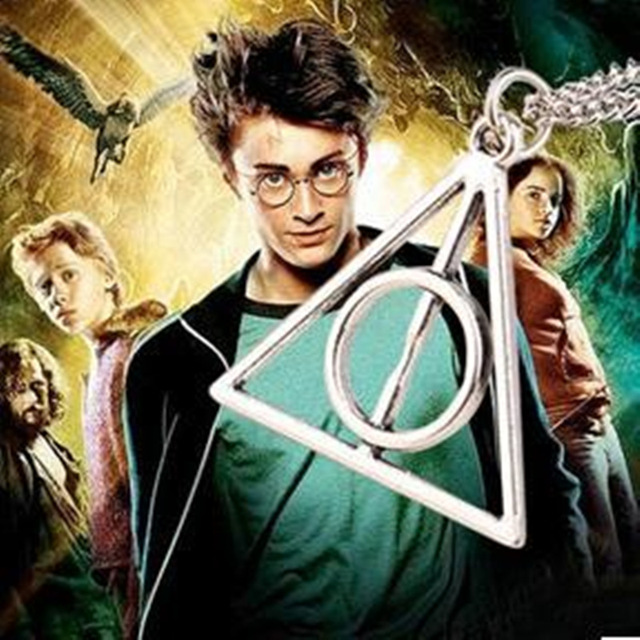 N277 2016 hot Europe necklace Luna Cinema Harry Potter Harry Potter and the Deathly Hallows triangle pendant necklace