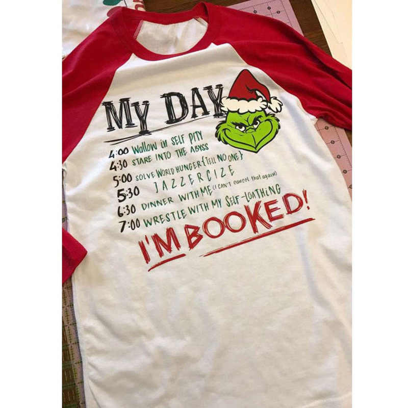 Adult Christmas Grinch T-Shirt Lady Long Sleeve Tops XMAS Party Gift S-2XL 2f40c7e2065d
