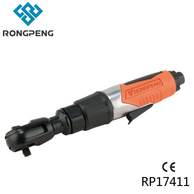 RONGPENG HEAVY DUTY 3/8 INCH AIR RATCHET WRENCH 67.5NM TORQUE PROFESSIONAL COMPOSITE PNEUMATIC TOOL RP17411 50FT-LB chrome vanadium steel ratchet combination spanner wrench 9mm