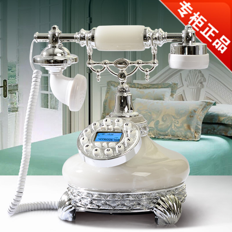 Good Xinyi genuine phone home fashion retro antique pure European telephone 8906 Decoration home art fitted Redial vintage phone in Figurines Miniatures from Home Garden