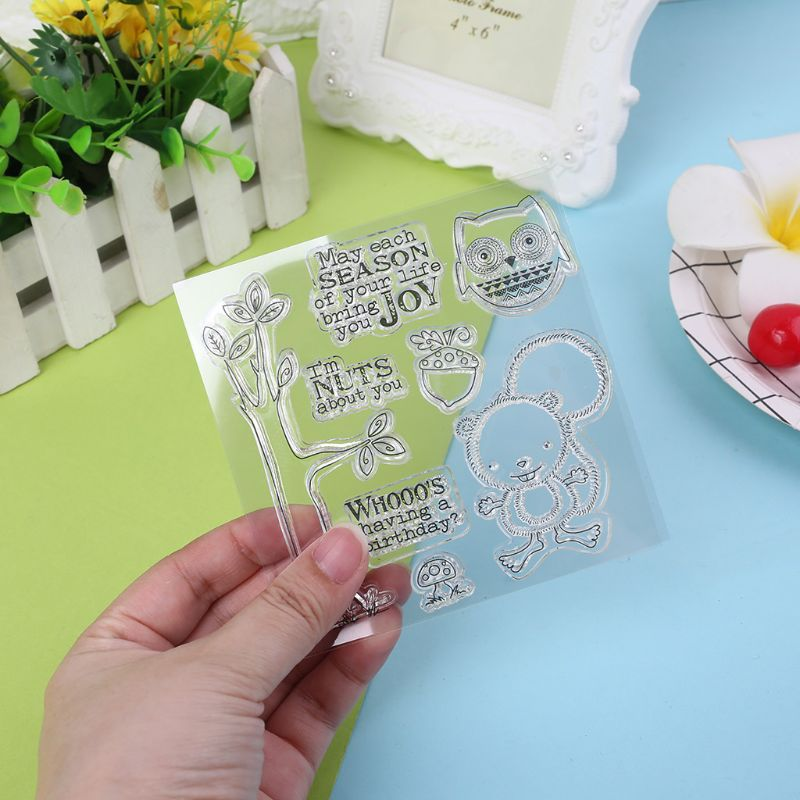 DIY Sympathy Silicone Clear Stamps Scrapbooking Photo Album Paper Card Art Craft