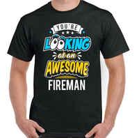 4bfad0cd917bb Вы выглядите потрясающий пожарный Мужская забавная футболка Пожарный  хип-хоп Уличная футболка