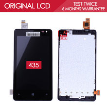 100% Tested Original New 800*480 4.0 inch Display For NOKIA Microsoft Lumia 435 N435 LCD Touch Screen Digitizer with Frame