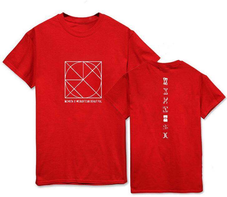 Fashion summer style monsta x concert be beautiful printing o neck short sleeve t shirt for kpop fans unisex t-shirt women tops
