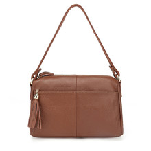 100% Top Cowhide Genuine Leather Women Messenger Ladies Small Shoulder Vintage cross body Bags For Girls MM2315
