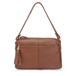 Image 1 - Женская сумка мессенджер из 100% натуральной воловьей кожи, винтажная маленькая сумка через плечо для девушек, мм2315