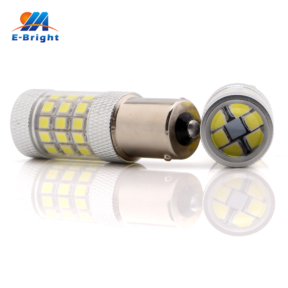 1pcs 2835 42 SMD Led Bulb 1156 BA15S Stop Brake Backup Turn Driving Tail Lamp White Amber Red Color 12V 24V Free Shipping