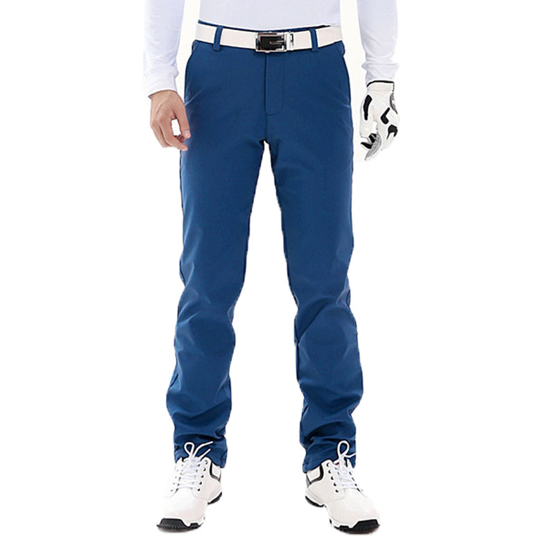 Pgm Men Golf Straight Long Pants Male Quick Dry Slim Fitness Pants High Stretch Breathable Sport Pants Trousers AA11846 newsosoo men s pleated biker jeans pants slim fit brand designer motocycle denim trousers for male straight washed multi zipper