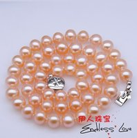 7 8mm Pearl Necklace Spring/Summer/Autumn/Winter Jewelry Accessory Nice Gift+Free Shipping