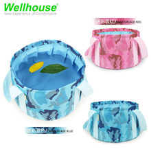 10L Camouflage Portable Outdoor Camping Folding Washbasin/Picnic Fashing Water Equipment Bucket/Survival Military Travel Kits