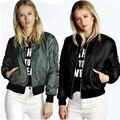 Jackets Women basic clothing spring and autumn coat female army green bomber jacket  black coat zipper chaquetas