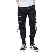 bumpybeast Reflective Hole Chinese Letter Wealthy Men Harem Pants 2018 Thin Hip Hop