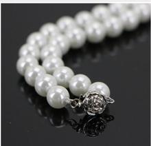 14mm Amazing White South Sea Shell Fashion Pearl Necklace Beautiful Girls Halsketten Big Sweater chain Golden silver