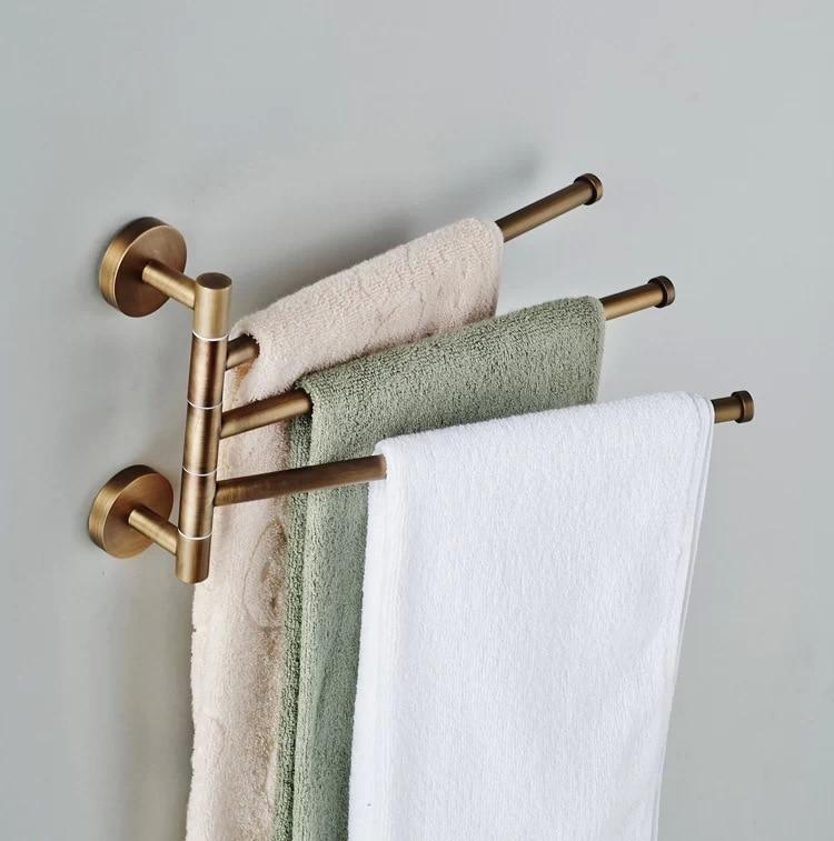 Becola European Towel Rack Toilet Bar Bathroom Antique Rotary Activities 3 Br 88013 In Racks From Home Improvement