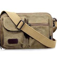 2018 Autumn and winter new fashion business men's bag boutique canvas bag shoulder Messenger bag men's bag