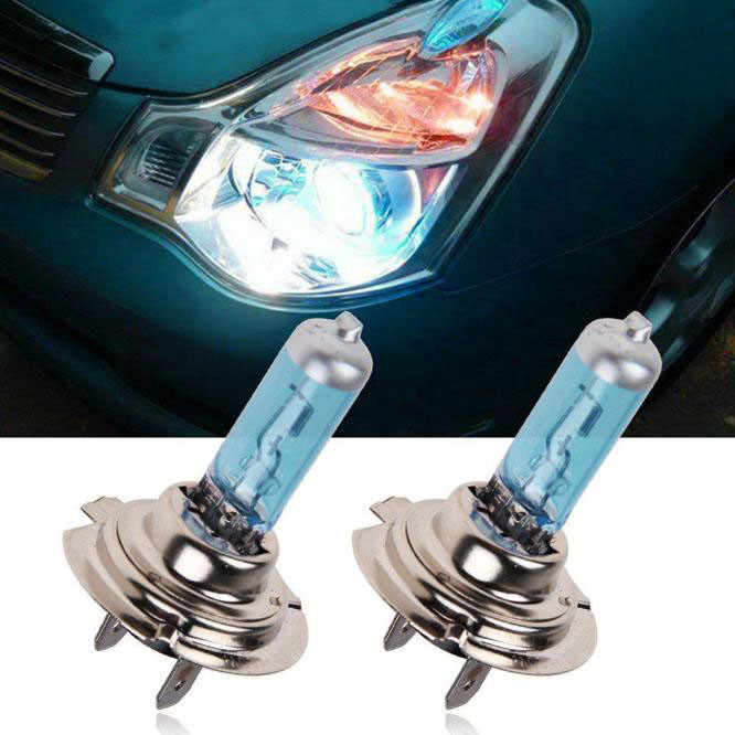 Car Light 2pc H7 6000K Car Xenon Bright Gas Halogen Headlight White Light Lamp Bulbs 100W 12V Headlight White Light Lamp Bulbs