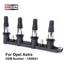 COWTOTAL катушки зажигания для Защитные чехлы для сидений, сшитые специально для Opel Astra 1.6L OEM 1208021 10458316 1104082 71739725 71744369 CE200912B1 DMB939