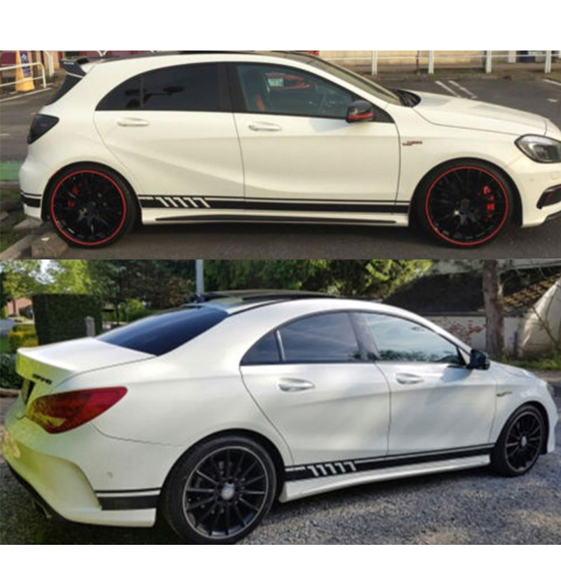 Car Stickers Automobiles & Motorcycles Automobile For Mercedes Benz A Class W176 A45 Amg W117 C117 X117 Cla Side Stripe Skirt Roof&hood Decal Graphics Sticker To Ensure A Like-New Appearance Indefinably