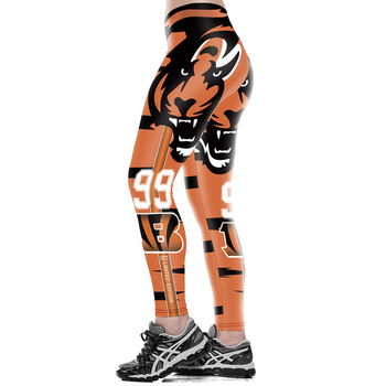 Unisex Football Team Bengals 99 Print Tight Pants Workout Gym Training Running Yoga Sport Fitness Exercise Leggings Dropshipping