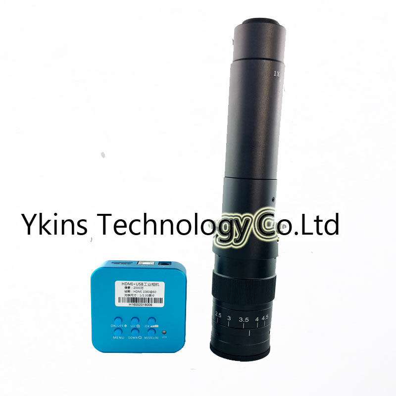 20MP Full 1080P HDMI USB industrial video digital microscope camera 180X 300X C Mount lens magnification