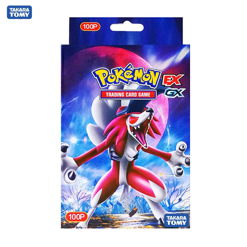 Tomy Pokemon 100PCS GX EX MEGA Cover Flash Card 3D Version SWORD SHIELD Card Collectible Gift Children Toy