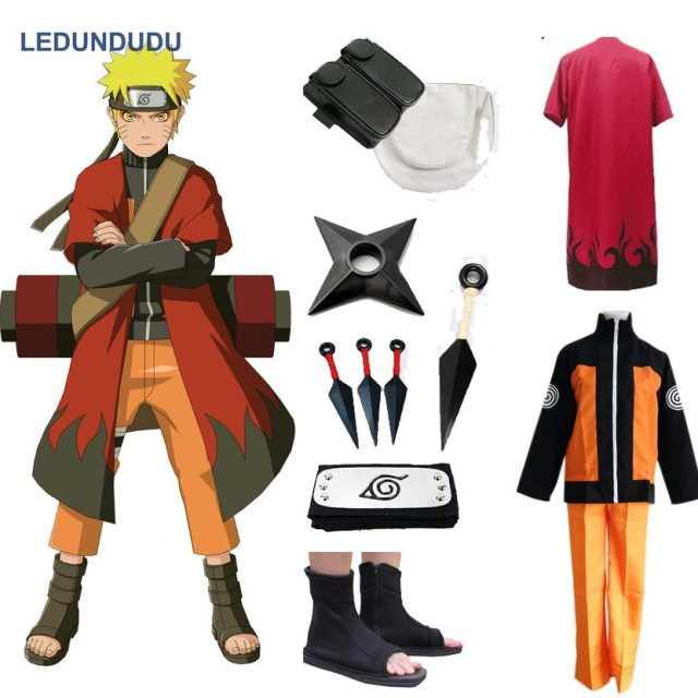 Anime Naruto Cosplay Costumes Shippuden Uzumaki Naruto 2nd Outfit Uniforms Set with Cloaks Props Halloween Party  sc 1 st  AliExpress.com : naruto costums  - Germanpascual.Com