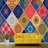 Free Shopping Custom Geometry Ceramic Tile Pattern Background Mural Living Room Bedroom Restaurant Decoration Wallpaper