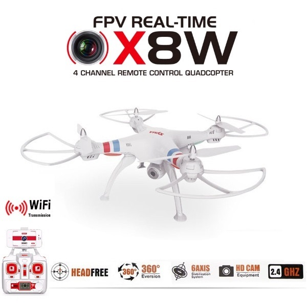 SYMA X8W Venture WiFi FPV RC Drone Real Time Video 2.4G 4CH 6 Axis Professional Quadcopter With 2MP HD Wide Angle Camera b156xw02 v2 b156xw02 v 2 au optronics screen lcd screen display panel glossy glare original for laptop new no deadpixel