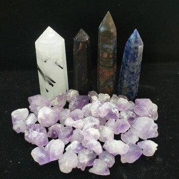Piedras curativas de cuarzo Natural grava cristal obelisco Punto de cuarzo