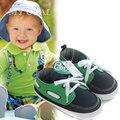 2016 zapato infantil primer caminante de la mezcla verde verde oscuro de algodón de color zapatos de bebé fresco botton suave zapatilla de deporte de niño