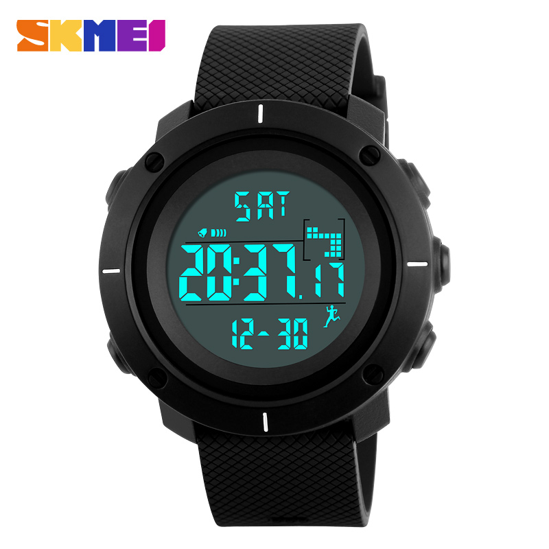 Men's Watches Pedometer Sport Watch Men Skmei Brand 50m Waterproof Led Digital Chrono Calories Alarm Outdoor Military Wristwatches Digital Watches