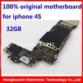 32 gb placa lógica motherboard para o iphone 4s mainboard original de fábrica desbloqueado telefone inteligente placa lógica motherboard bom trabalho