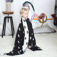 Free shipping gift Multi purposed Triangles trees pattern Reversible Knitted Baby Kids Throw Blanket wrap Photography Props
