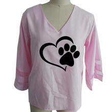 Sexy Heart & Paw V-neck women's blouse