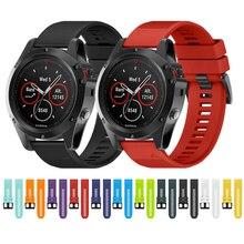 купить 26mm Strap For Garmin Fenix 5X / Fenix 3 / Fenix 3 HR Watch Band Sports SmartWatch Pure Color Easy-Dismount Silicone Watch Belt недорого