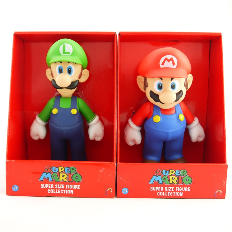 2 Styles Free Shipping Super Mario Bros Mario Luigi PVC Action Figure Collection Toy Doll 9 23cm New in Box Enema