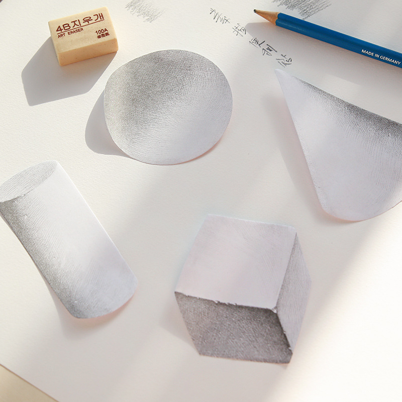 24 pcs/Lot Sketch memo pad Self-adhesive decor sticky notes Post 3D Geometry Stationery Office material School supplies F160
