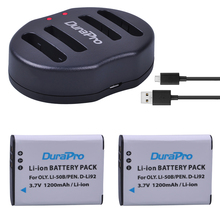 DuraPro 2pcs 1200mAh Li-50B D-LI92 Li 50B D LI92 Li-ion camera Battery + USB Dual Charger For Olympus 1020 1010 1030 Pentax X70