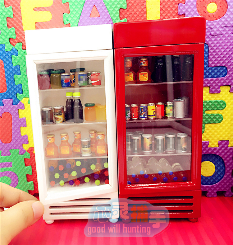 Tiny COCA COLA  COOLER ICE CHEST Dollhouse Miniatures Drink Soda Free Shipping
