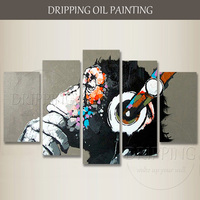 Professional Artist Hand Painted High Quality Modern Animal Monkey Oil Painting On Canvas Funny Abstract Gorilla