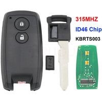 2 button Smart Remote Card Key Fob 315MHZ with Keyless for Suzuki Swift SX4 with Uncut Blade KYDZ TYPE