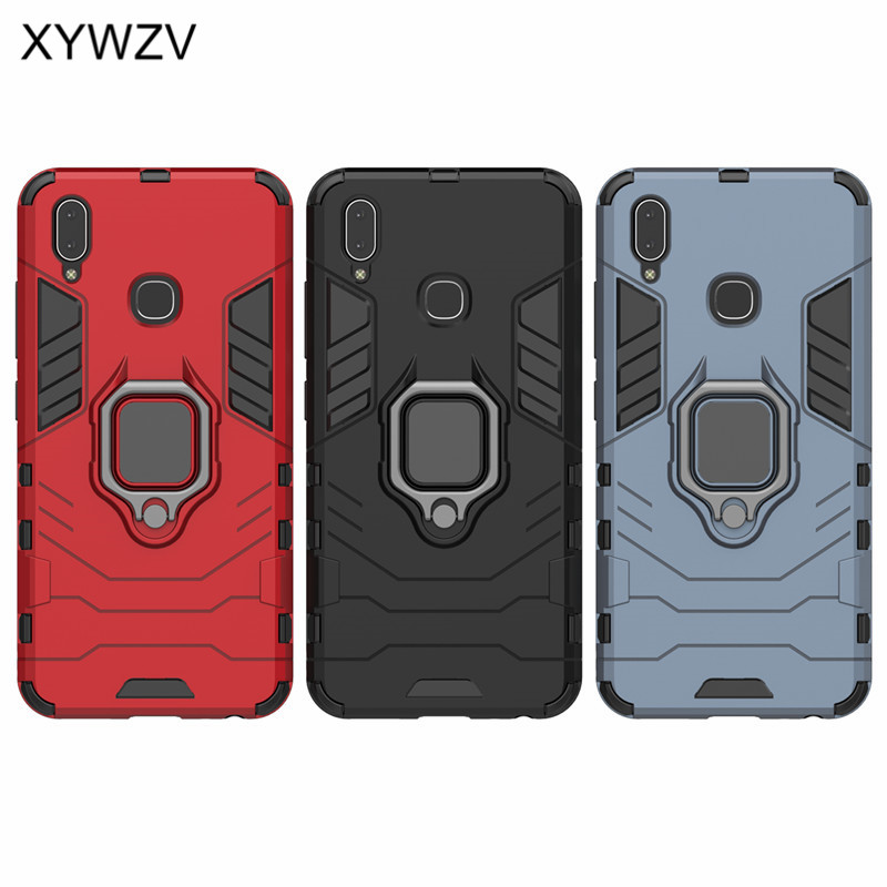 Image 5 - Vivo Y91 Case Shockproof Cover Hard PC Armor Metal Finger Ring Holder Phone Case For Vivo Y91 Protection Back Cover For Vivo Y91-in Fitted Cases from Cellphones & Telecommunications
