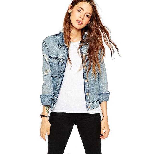 La Vestes Taille Longues Jeans Manches Femmes Plus Grande gdI1xwd