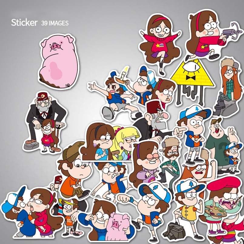 39pcs-lot-gravity-falls-stickers-anime-kids-stickers-toys-diy-laptop-luggage-bicycle-guitar-skateboard-fridge-decal-waterproof