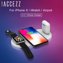 !ACCEZZ 3 in 1 QI Wireless Charger For iphone 8 8P Plus X XS MAX XR Quick Charge Apple i Watch 2 4 AirPods Fast Charging