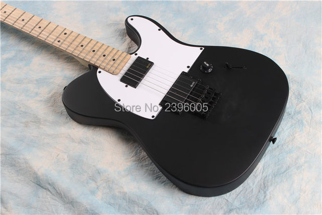 New Arrival Tele Guitar Matte Black Finish AS Jim Root Tl Guitarlocking Knobs Maple Fingerboardreal Pictures Free Ship